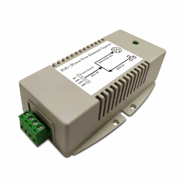 56V/625mA High Power Gigabit PoE Injector with 18 to 36V DC Input and 802.3at Compliance