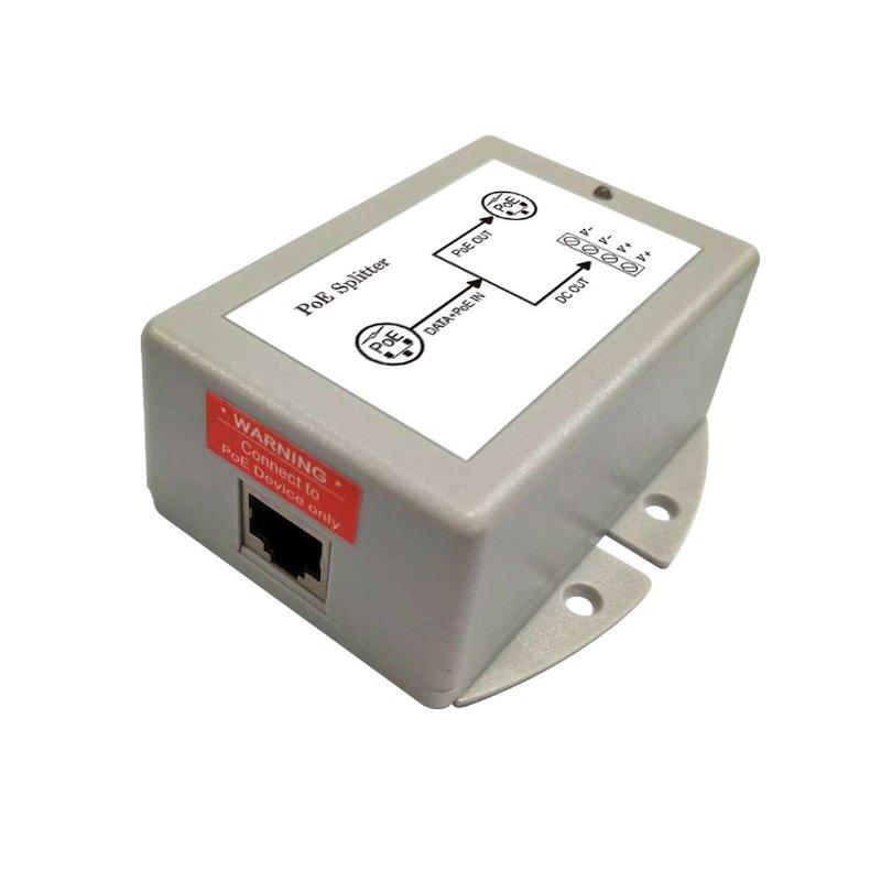 Dual Output Gigabit PoE Splitter, DC 40V-60V Input, 50W Output ,operation temperature -25C~+65C